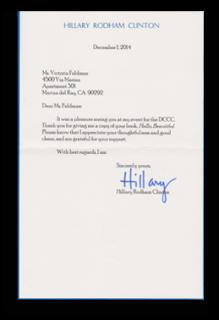 Hillary's Letter